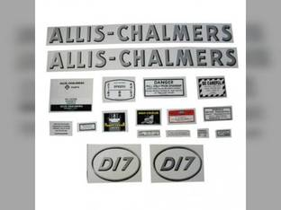 Decal Set D17 Gas w/Oval Model Letters Mylar Allis Chalmers D17