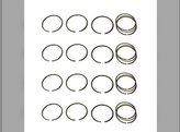 "Piston Ring Set - .020 "" Minn-Moline Minneapolis Moline 283E4 5 Star U UB UT UTS"