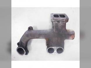 Used Exhaust Manifold Rear Section John Deere 4960 762B 4760 724J 4560 6076 7710 7810 644J 4755 644H 4955 6076AF