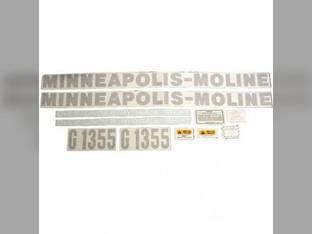 Tractor Decal Set G1355 Vinyl Minneapolis Moline G1355