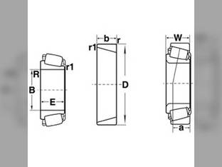 Tapered Bearing Cup Massey Ferguson 8560 540 760 510 750 865 860 850 300 205 550 146242