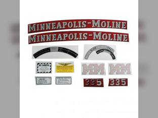 Tractor Decal Set 335 Mylar Minneapolis Moline 335