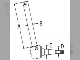 Spindle- RH/LH Massey Ferguson 150 508578M92