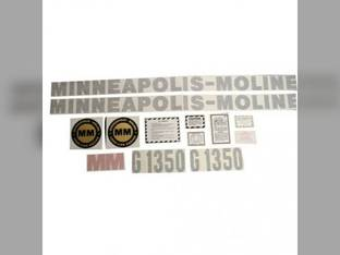Tractor Decal Set G1350 Vinyl Minneapolis Moline G1350