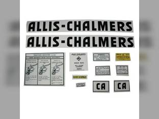 Decal Set CA Mylar Allis Chalmers CA