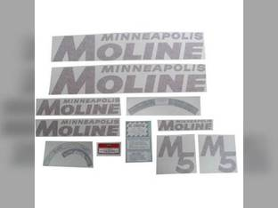 Tractor Decal Set M5 Red Vinyl Minneapolis Moline M5