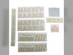 Tractor Decal Set 101 Super Twin Power Vinyl Massey Harris 101