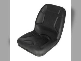 Seat High Back Vinyl Black Kubota L345 L2550 M4500 L4150 L2900 L2350 L2850 L235 B8200 L4200 L3600 M7500 L185 L275 Yanmar Massey Ferguson 35 220 Mitsubishi White Satoh Mahindra Hesston Rhino Kumiai