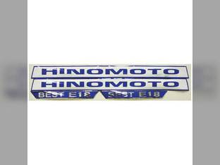 Decal E18 Hinomoto E18