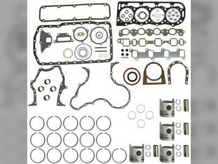"Engine Rebuild Kit - Less Bearings - .020"" Oversize Pistons Ford 256T 7700 755 7100 7600 BSD442T 7500 7200 A62 750 7000"
