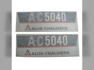 Decal Set 5040 Side Panels Only Vinyl Allis Chalmers 5040