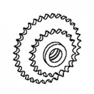 Eccentric Drive Sprocket With Bearing Cups