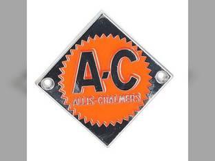 Emblem Orange on Chrome Diamond Allis Chalmers D21 D21 D15 D15 D19 D19 D12 D12 D14 D14 D17 D17 ED40 ED40 D10 D10 70228474 Gleaner F A2 E C E3