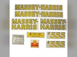 Tractor Decal Set 555 Mylar Massey Harris 555