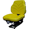 Vinyl Seat Assembly for Open Station Tractors - Yellow