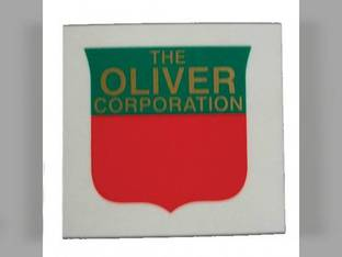 "Tractor Decal Shield 1-1/2"" Red & Green Mylar Oliver 1555 1600 660 Super 88 1550 1750 1950 1850 1650 770 1655 1855 1900 Super 66 2050 Super 77 1755 70 2150 60 1800 77 66 880 Super 55 550 1955 88"