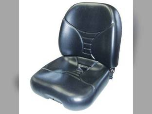 Seat Assembly Vinyl Black New Holland L170 LS160 LS170 L185 L160 L175 John Deere 325 315 240 320 Bobcat S130 863 S160 S150 763 S175 T190 S205 873 S185 S250 T180 Caterpillar Gehl Mustang Case 1845C
