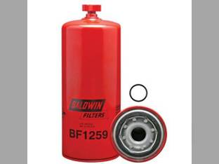Fuel Water Seperator Spin On With Drain BF1259 New Holland TG305 9282 9884 9682 TG255 TG285 9482 Case IH MX270 MX285 STX275 9350 MX240 STX375 MX255 Gleaner R72 R75 AGCO Case 921 Versatile Cummins