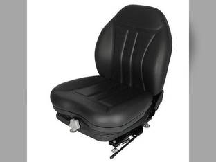 Seat - High Back Industrial Suspension Slide Track Black Vinyl