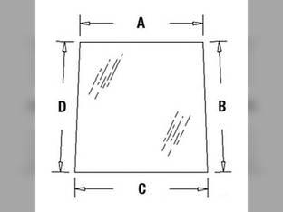 Cab Glass - Rear Window Upper Versatile 256 276 V91632 Ford 256V 9030 276