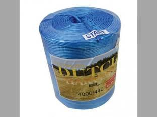 Dutch Harvest Baler Twine- Poly Blue 440# x 4000' Universal Baler Parts Twine, Netwrap, Film