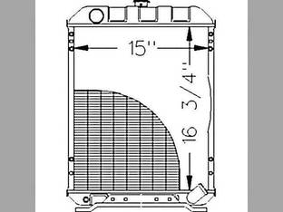 Radiator John Deere 970 1070 M804383