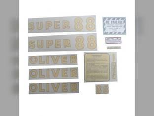 Tractor Decal Set Super 88 Vinyl Oliver Super 88
