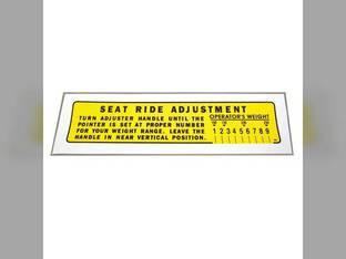 Seat Adjustment Decal International 560 100 140 460 130
