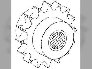 Feeder Reverser Idler Sprocket Case IH 1640 1644 1660 1666 1680 1688 2388 1321531C93