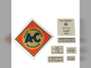 Decal Set Allis Chalmers UC