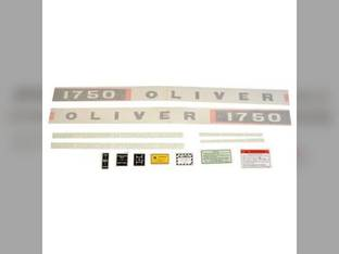 Tractor Decal Set 1750 Vinyl Oliver 1750
