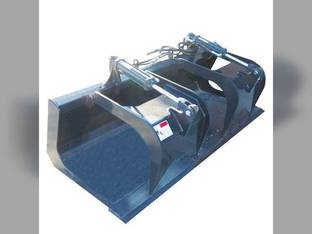 Stout - Skid Steer Flat Bottom Grapple Bucket 72""