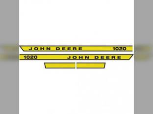1020 Hood Decal John Deere 1020