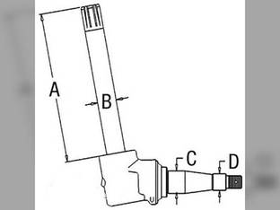 Spindle- RH/LH John Deere 4030 AR53850
