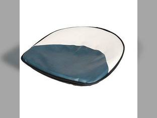 "Pan Seat 21"" Deluxe Cushion Vinyl Blue & White Ford 5600 2310 2120 5100 600 801 2110 8N 6700 800 5000 7700 2600 4140 9N 4600 700 2610 2000 7600 6600 900 NAA 4130 3000 335 3600 4000 4100 4110 7000 2N"