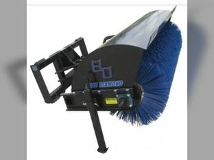 "Blue Diamond - Skid Steer Loader Attachment Manual Angle Rotary Broom w/ Poly Bristle 72"""