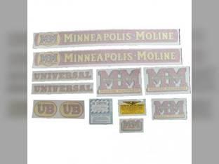 Tractor Decal Set UB Vinyl Minneapolis Moline UB