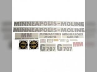 Tractor Decal Set G707 Vinyl Minneapolis Moline G707