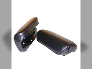 Armrest Set with Clip-on Metal Frame Vinyl Black John Deere 820 4000 B 4020 530 620 630 720 730 60 A 5010 2010 3010 3020 G 50 4010 830 840 70 520 International 130 330 Cub Cub Lo-Boy 140 100 Case 300