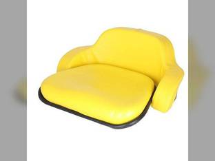 Seat Cushion Set- 2 Piece Steel Back Vinyl Yellow John Deere 2020 1520 7700 2030 2955 2440 2755 2355 4000 2640 1010 4230 2155 820 2350 2040 4020 830 830 2630 2750 2550 1530 1020 2150 2555 4320 4400