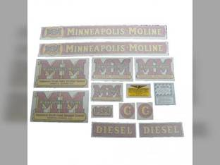 Tractor Decal Set G Diesel Vinyl Minneapolis Moline G