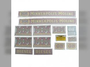 Tractor Decal Set GB Diesel Vinyl Minneapolis Moline GB
