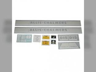 Decal Set D15 Series II Gas w/Chrome Vinyl Allis Chalmers D15