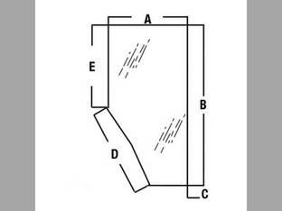 Cab Glass - RH Door Kubota M4900 M5700 M9000 M8200 M95 M6800 M105 3G710-70670