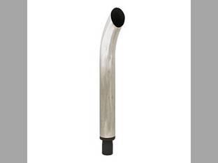 "Exhaust Stack - 1-15/16"" x 27"" Curved Chrome International B 340 C T340 130 Super C 100 A Super A 240 140 200"