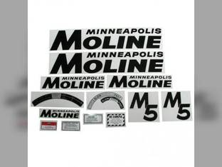 Tractor Decal Set M5 Black Mylar Minneapolis Moline M5