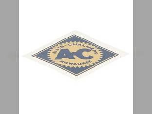 """Decal 2-1/2"""" Diamond w/Blue Background Mylar Allis Chalmers IB D15 5050 D17 175 7020 B 185 D12 WC RC D21 160 WD 170 7045 D10 5030 WD45 D19 180 200 190 D14 7050 220 5040 CA WF 7010 C 210 G"""