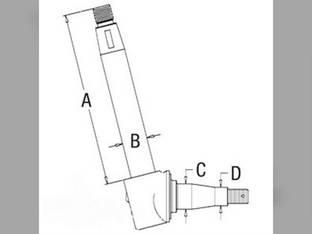 Spindle- RH/LH Massey Ferguson 50