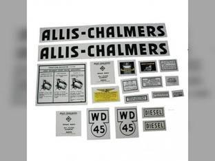 Decal Set WD45 Diesel Mylar Allis Chalmers WD45