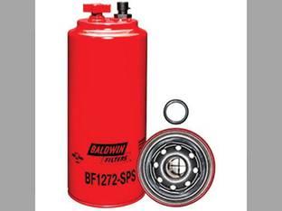 Filter - Fuel / Water Separator With Drain & Sensor Port Spin On BF1272 SPS Case IH MX270 CPX610 CPX620 MX285 STX275 STX325 MX275 MX240 MX255 New Holland Massey Ferguson 8780 Gleaner R62 Cummins